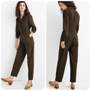 Madewell Seamed Coverall Jumpsuit Size 10 NEW